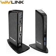 Wavlink evrensel USB C üçlü ekran yerleştirme İstasyonu ile 4K HDMI DVI Gigabit RJ45 60W PD pencere çalışma çevrimiçi