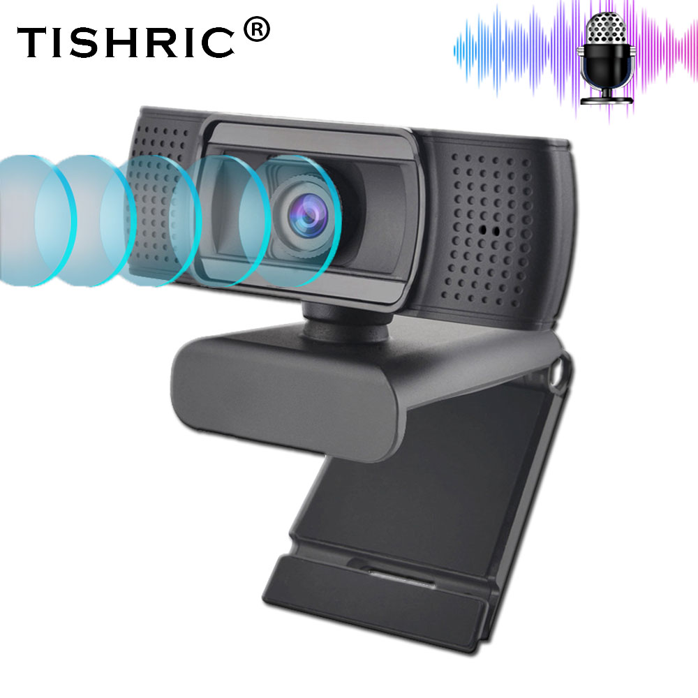 TISHRIC USB 2.0 Web Webcam Full HD 1080P Ashu H601 Video Recording Web Camera With Microphone For PC Laptop Not Webcam Autofocus