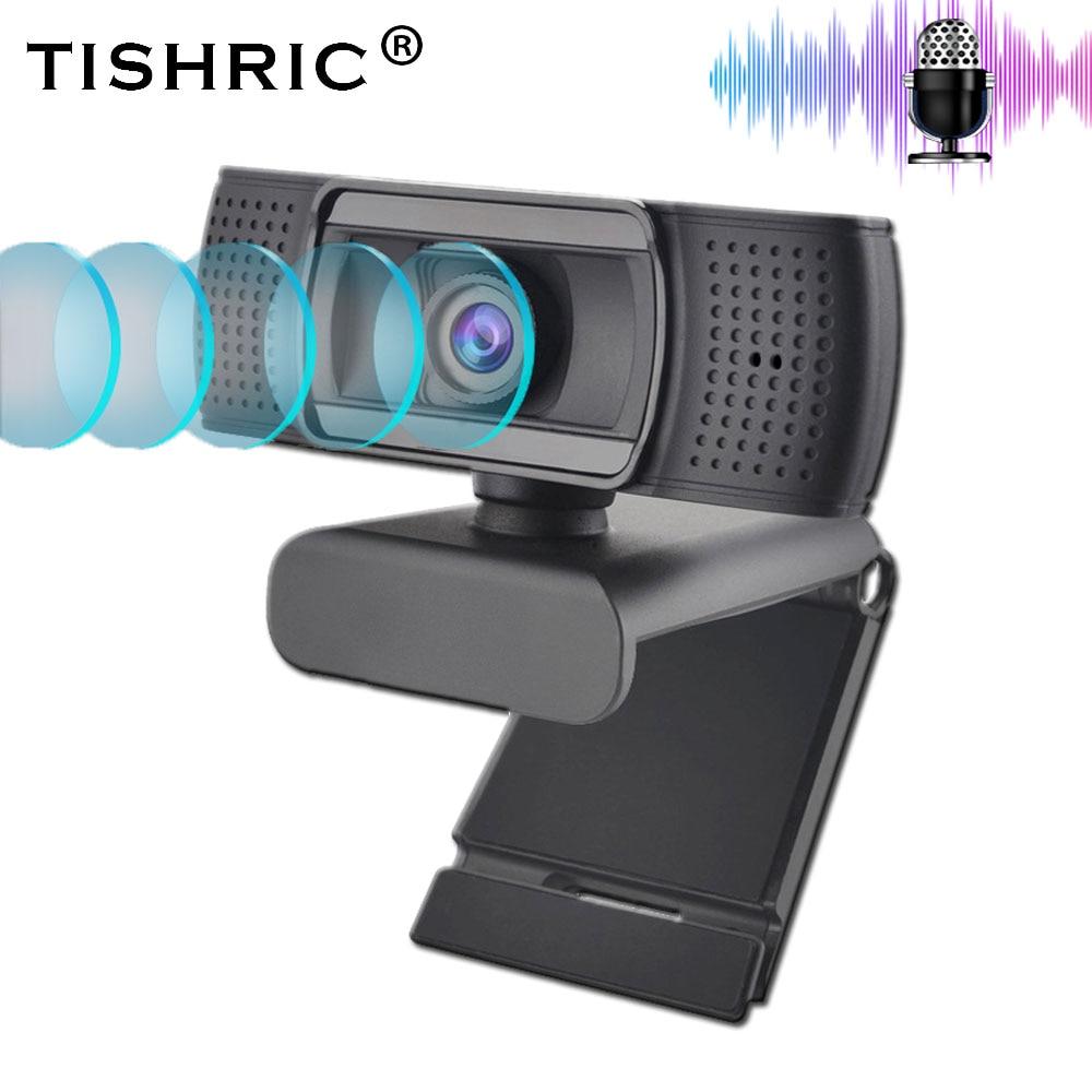 TISHRIC USB 2.0 Web Webcam Full HD 1080P Ashu H601 Video Recording Web Camera With Microphone For PC Laptop Not Webcam Autofocus
