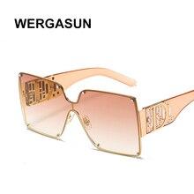 Vintage Sunglasses Rimless Classic Women New-Fashion Brand WERGASUN UV400