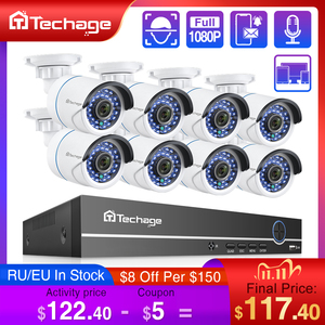 Image 1 - H.265 8CH 1080P 2MP POE NVR ערכת אבטחת CCTV מערכת אודיו IP מצלמה IR חיצוני עמיד למים טלוויזיה במעגל סגור מעקב וידאו מצלמה סט