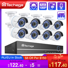 H.265 8CH 1080P 2MP POE NVR Kit CCTV Sicherheit System Audio IP Kamera IR Im Freien Wasserdichte CCTV Video Überwachung kamera Set