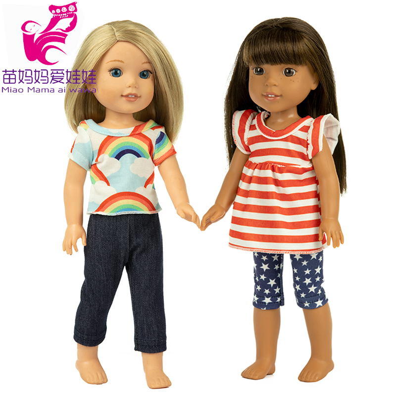 Shirt Jeans Pants For 14.5 Inch Wellie Wishers Doll Clothes Camille Ashlyn Kendall Emerson 38cm 40cm Nancy Dolls Clothes