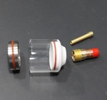 Набор газовых линз Tig Pyrex, стеклянные чашки для сварки TIG 20 #, для всех WP17/18/26, аргонный фонарь