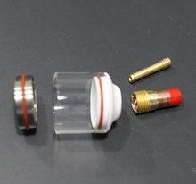 Tig pyrex copo gás lente kit 20 # tig soldagem copos de vidro para todos wp17/18/26 argônio tocha