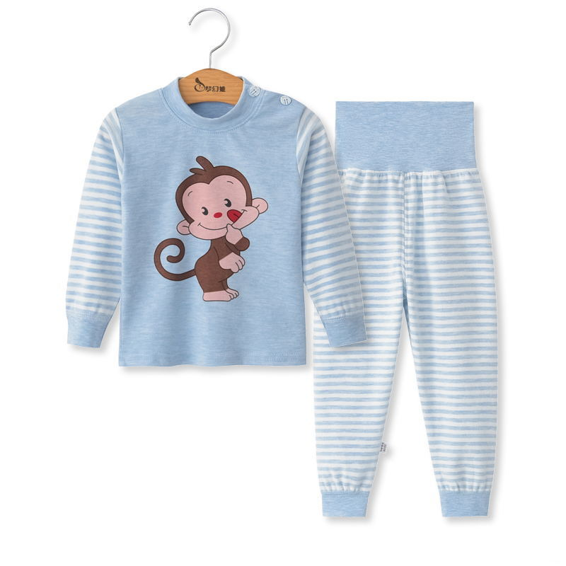 SAILEROAD Children Cartoon Animals Pajamas Set Baby Boys Cute Elephant Pyjamas Girls Love Heart Pijama Kids Home Wear Cotton PJS 2