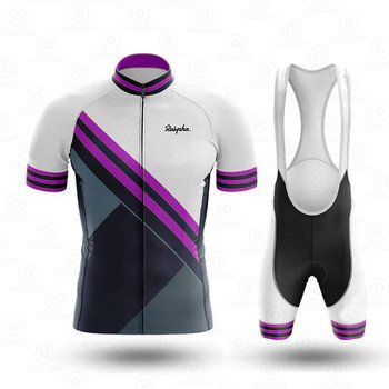 Ralvpha Ropa Ciclismo Cycling Jersey Bib Shorts Set Quick Dry 19D Gel Pad Mountain Cycling Clothing Suits Outdoor Mtb Bike Wear