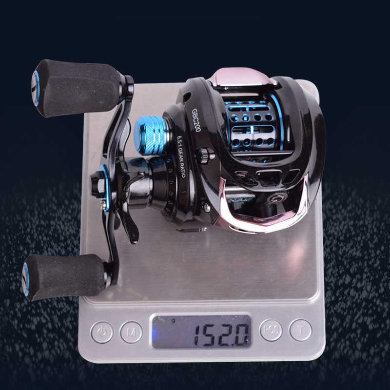 Mavllos Pioneer GBC200 152g ultra-léger BFS Baitcasting moulinet de pêche gauche droite Double bobine en métal pêche appât coulée bobine