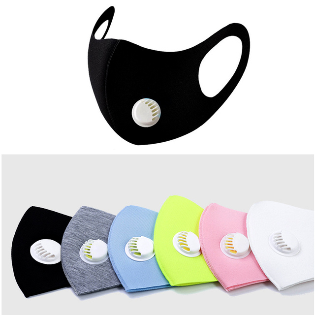 1Pcs Kpop Cotton Black Mouth Face Mask Dust Mask with Breath Value Korean Style Mask Washable And Reusable for Man Woman 1