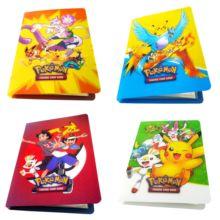 Футболки с принтом из аниме детская одежда на рост 80, 240 шт. держатель альбомная игрушка игра коллекция Pokemones карты Альбом топ для детей, подарок