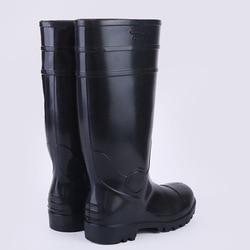 Steel Top Steel Bottom Work Site Rain Shoes Anti-smashing And Anti-penetration Men's Rain Boots Hight-top Triple Protection Rain