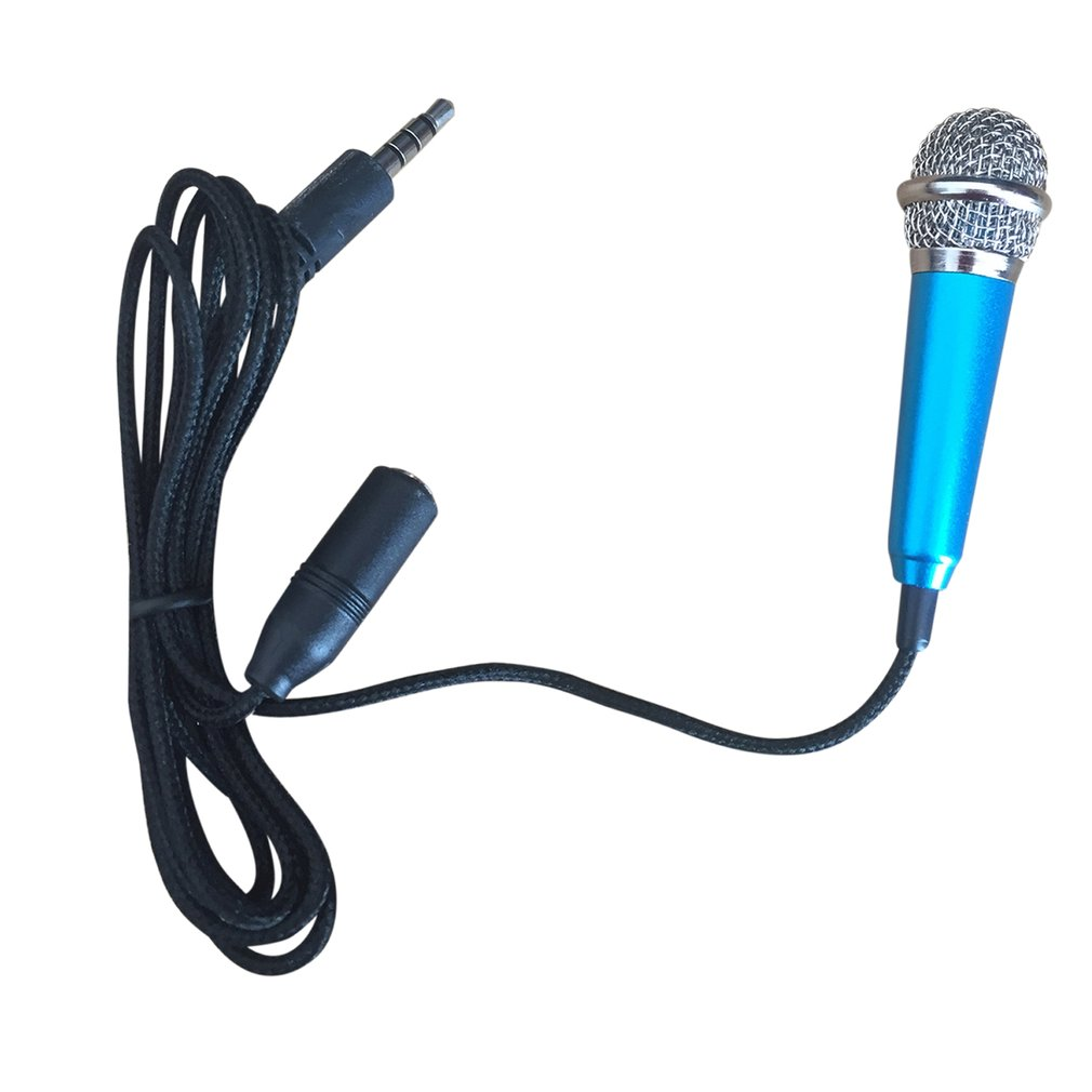 Portable Aluminum Alloy Mini 3.5mm Wired Microphone for Mobile Phone Tablet PC Laptop Speech Sing Karaoke for iPhone