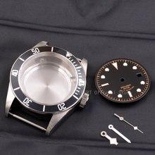 Zegarki przypadku 41mm corgeut dial ręce mosiądz powlekane 316L S stal pasuje ETA 2836/2824 Miyota8215 821A ruch dla mężczyzn mechanica