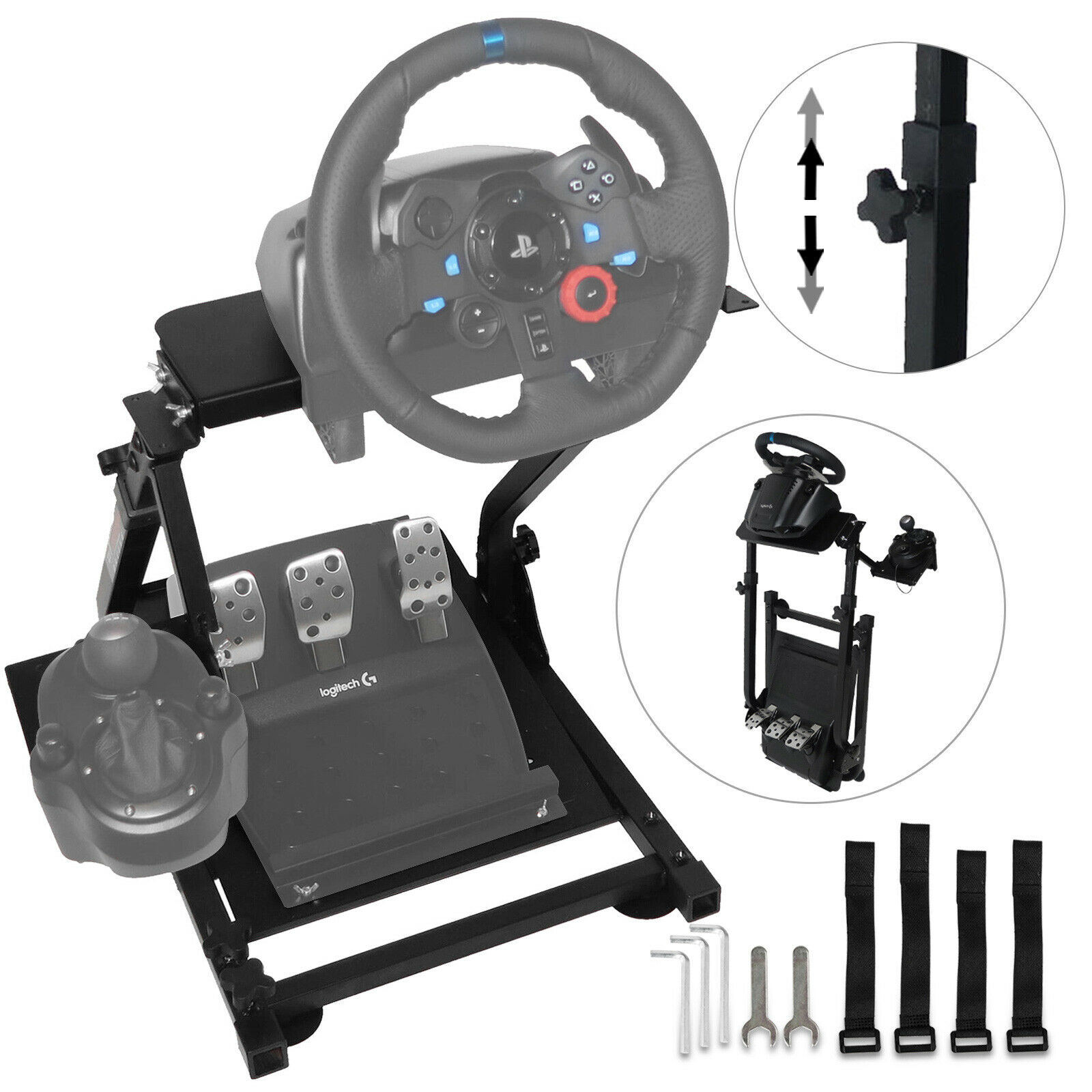 Logitech Racing Simulator Steering Wheel Stand For G27 G29 PS4 G920 T300RS 458 T80 T300RS, TX F458 & T500RS