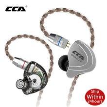 CCA C10 4ba + 1dd hibrid kulak kulaklık Hifi Dj Monito koşu spor kulaklık 5 sürücü ünitesi kulaklık gürültü kulakiçi iptal C12