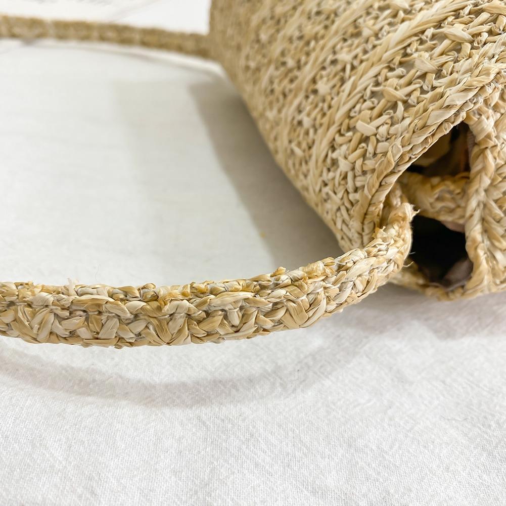 Mini Sized Straw Crossbody Bag, Mini Straw Travel Bag for Women 2021