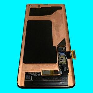 Image 2 - AMOLED الأصلي مع شاشة نقطة سوداء لسامسونج غالاكسي s10 زائد شاشة lcd G975A G975U G975F s10 + lcd عرض تعمل باللمس الجمعية