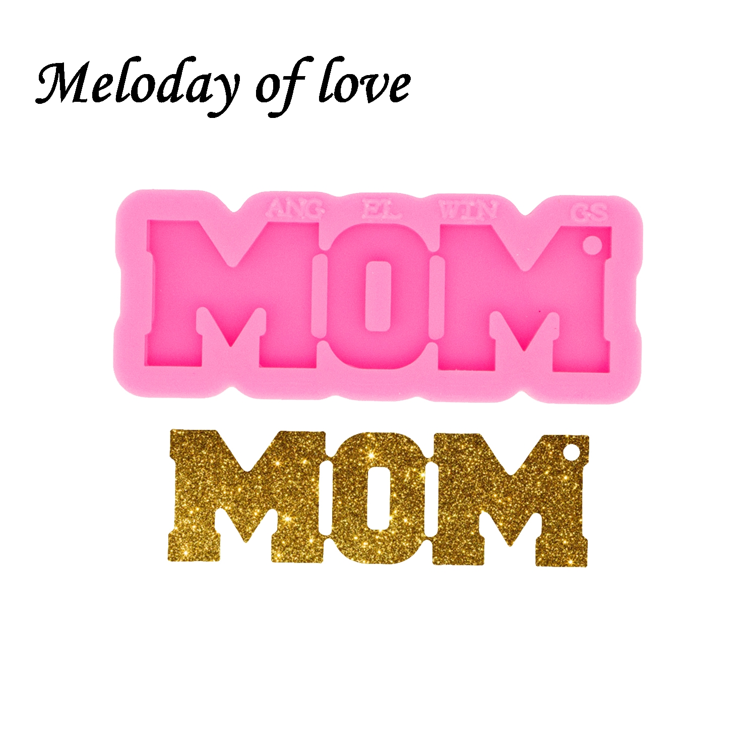 Glossy Silicone MOM Letter form for Keychain Epoxy Resin Molds Jewelry Making Custom Mould DY0531(China)