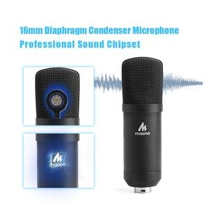 Image 3 - Maono microfone condensador profissional podcast studio microfone de áudio 3.5mm computador mic para youtube karaoke gravação jogos