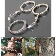 Açık kamp yürüyüş cep testere tel seyahat acil Survive aracı paslanmaz çelik tel kitleri ile parmak kolu kesme