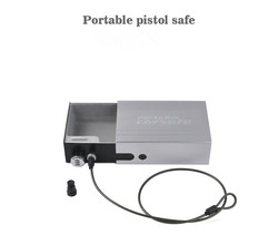 portable pistol car safe gun box ammo metal case safes Code box can safebox keybox strongbox boxes safety security key money