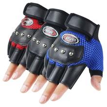 Antypoślizgowe amortyzujące oddychające pół palca rękawice gimnastyczne wagi ciężkiej sport ćwiczenia waga krótkie sportowe rękawiczki akcesoria tanie tanio ISHOWTIENDA Skóra syntetyczna gloves gloves Zmywalna Sport Accessories