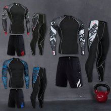 Workout-Compression-Suit Runner Gym-Set Running-Sportswear Basketb 3pcs/Sets Men's Long-Sleeve