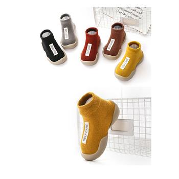 2020 nowe buty dziecięce pierwsze buty Unisex maluch pierwsze Walker chłopcy dziewczęta dzieci guma miękka podeszwa buty z podeszwą dzianiny botki antypoślizgowe tanie i dobre opinie Z dzianiny tkaniny Patch Wiosna jesień Slip-on Mieszane kolory Dla dzieci Pierwsze spacerowiczów RUBBER Pasuje prawda na wymiar weź swój normalny rozmiar
