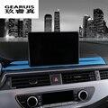 Auto Styling Navigation Bildschirm Schutz deckt Aufkleber Center Control Streifen Panel Für Audi A4 b9 A5 Innen Auto Zubehör