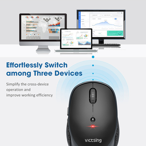 Image 4 - VicTsing PC254 Bluetooth Mouse 3 Modes Wireless Mouse Silent Computer Mouse 2400 DPI Portable USB Optical Mice For PC Notebook