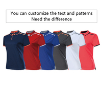 Polo shirts for women custom outdoor sports lapel T-shirts embroidered logo running speed dry outdoor tops 1
