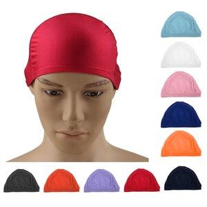 Шапочка для плавания для взрослых и женщин, нейлоновая шапочка для плавания в бассейне, шапочка для плавания, длинная шапочка для водных вид...
