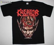 KREATOR COMA OF SOULS'90 THRASH SODOM DESTRUCTION DEATHROW NEW BLACK T-SHIRT Fashion T-Shirts Summer Straight 100% Cotton sodom