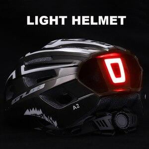 Image 1 - חדש LED אור נטענת יצוק Intergrally רכיבה על קסדת הר כביש אופני קסדת ספורט בטוח כובע לגבר