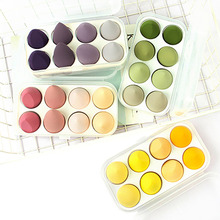8PCS Makeup Sponge  Cosmetic Puff With Storage Box Wet And Dry Beauty Foundation Powder Concealer Tools Super Soft