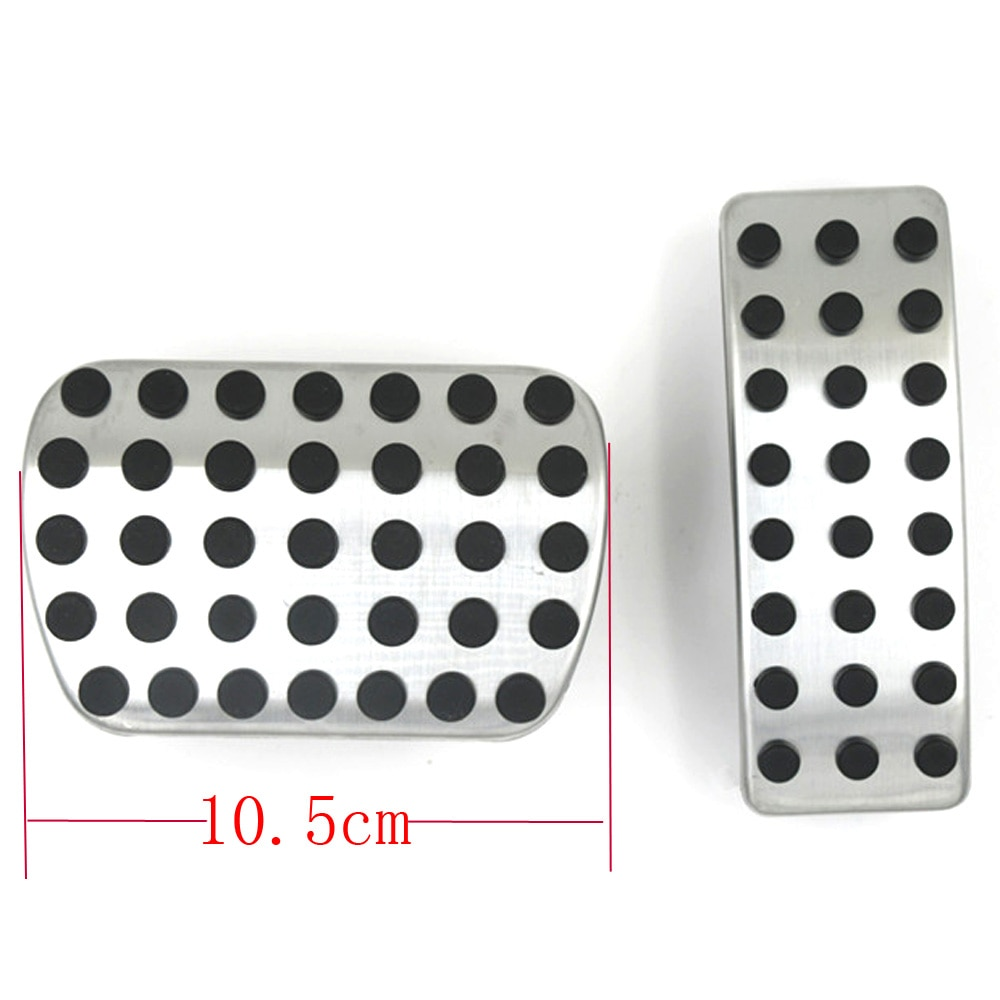 Stainless Steel Brake Gas Fuel Foot Rest Pedal Pads Cover AT for <font><b>Infiniti</b></font> <font><b>Q30</b></font> QX30 2016 2017 2018 <font><b>Accessories</b></font> Car Styling image