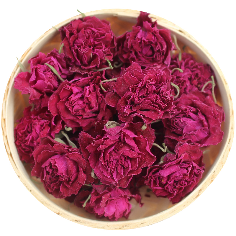 Flower Tea Dry Rose Bud Flower Tea Pingyin Rose Double Red Rose Corolla Tea Flower Tea 100g 1