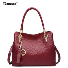 embossed pattern leather tote ZOOLER 2017 genuine bags handbag women bag real limited in stock bolsa feminina #5002