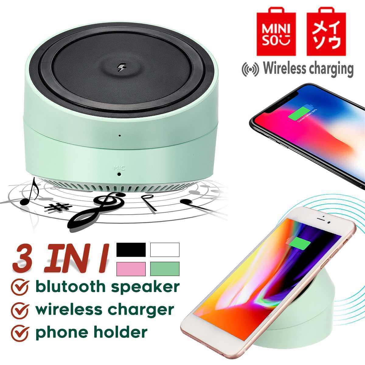 Miniso Bluetooth Speaker Portable Charger Nirkabel Pengeras Suara Tidak Dapat Dipisahkan dengan Bt Speaker untuk Ponsel Komputer Stereo Musik
