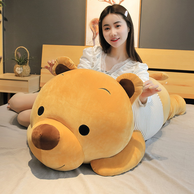 Hot New Soft Cute Cartoon Lying Plush Stuffed Bear Big Toys Teddy Doll Lovely Animal Children Birthday Gift Bear Plush Pillow Uncategorized Decoration Stuffed & Plush Toys Toys