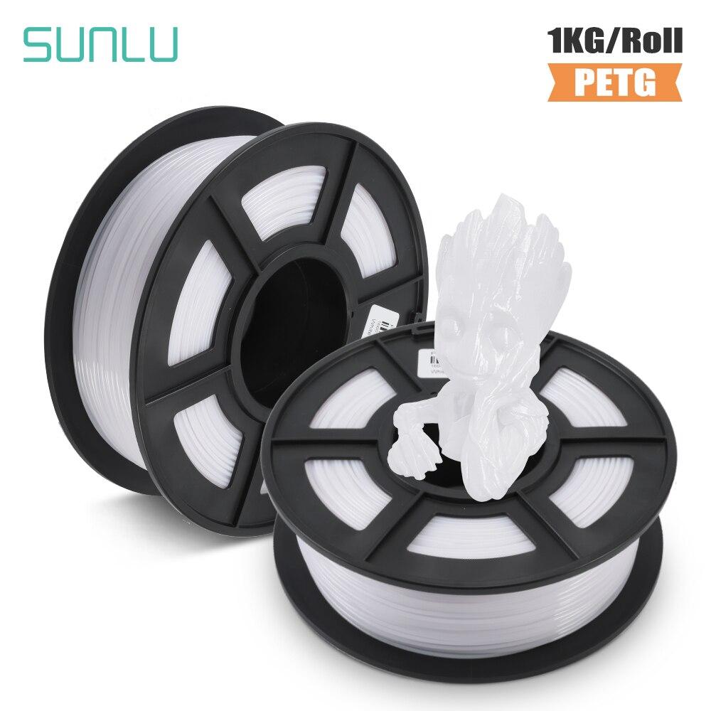SUNLU PETG 3D filament 1.75mm 1KG 2.2lb PETG 3D Printer Filaments Dimensional Accuracy +/- 0.02 mm пластик для 3d ручки