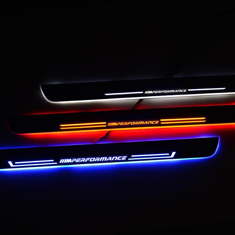 LED Davanzale Del Portello Per BMW 1 Serie E81 E82 E87 E88 2006-2013 Door Piatto Dello Scuff Pathway Soglia di Pedale macchina di Luce di benvenuto Accessori