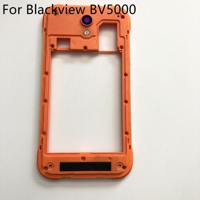 Utilisé Original cadre arrière coque étui + caméra verre Len réparation accessoires de remplacement pour Blackview BV5000 livraison gratuite