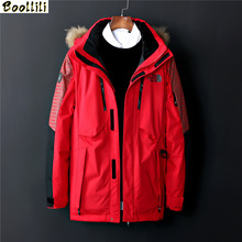 2020 New Arrival Winter Mens Duck Down Jackets Men #8217 s Long Jackets with Fur Collar RECOMMENDED Warm Snow Overcoats for Men M-3XL cheap Loose Casual zipper Full PATTERN Pockets Epaulet Zippers Thick (Winter) Broadcloth Polyester White duck down Collar Detachable