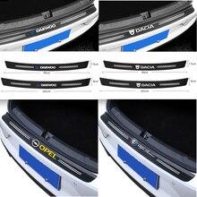 Fibra de carbono amortecedor traseiro do carro tronco guarda protegido adesivos para vw volkswagen golf polo passat tiguan jetta touran cc