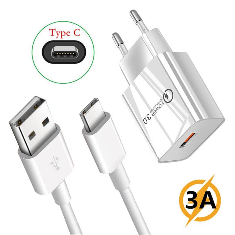 5v 3a carregador rápido usb adaptador tipo c micro carga cabo de telefone para samsung a5 a21s a30s xiaomi poco x3 6a redmi nota 4 7 8 9 pro