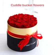Консервированные розы ручной работы настоящие в цветочной коробке