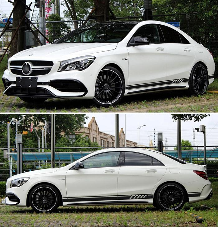 Car Body Door Side Stripes Decal Stickers for Mercedes Benz A Class W176 A180 A200 A250 A45 AMG Accessories styling Sticker in Car Stickers from Automobiles Motorcycles