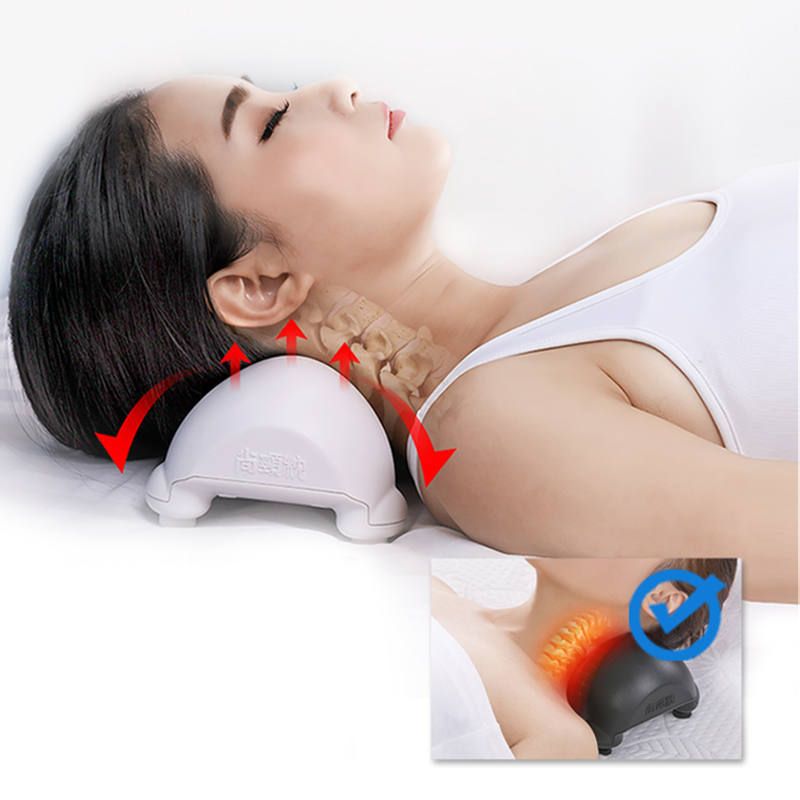 Cervical Traction Pillow Support Neck Stretching Devices Neck Spine Curvature Correction Pain Stress Relief Neck Stretcher Relax