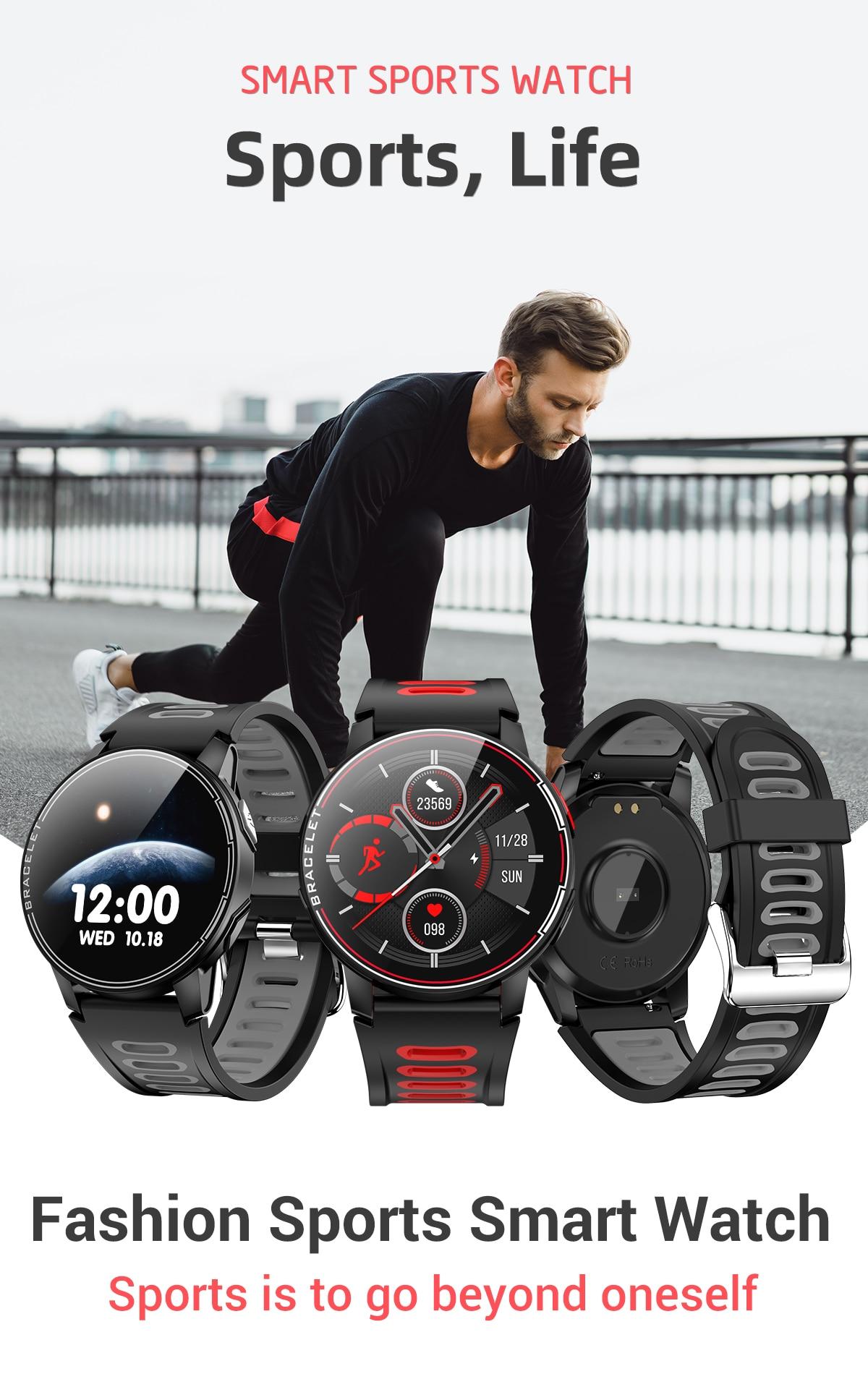 cheapest SENBONO S20 full screen waterproof smart watch Bluetooth 5 0 fitness tracker heart rate monitoring smart clock for men and women